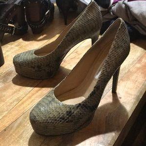 Diane von Furstenberg snakeskin pumps